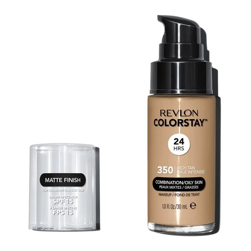 Revlon Colorstay Combination/ Oily Skin, Fond de ten cu pompita, Nuanta 350 RICH TAN, SPF 15, 30 ml