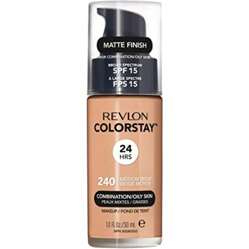 Revlon Colorstay Combination/ Oily Skin, Fond de ten cu pompita, Nuanta 240 MEDIUM BEIGE, SPF15, 30 ml, TESTER