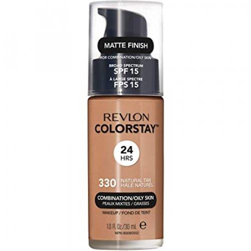 Revlon Colorstay Combination/ Oily Skin, Fond de ten cu pompita, Nuanta 330 NATURAL TAN, SPF 15, 30 ml