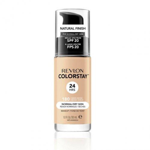 Revlon Colorstay Normal/ Dry Skin, Fond de ten cu pompita, Nuanta 180 SAND BEIGE, SPF20, 30 ml, TESTER