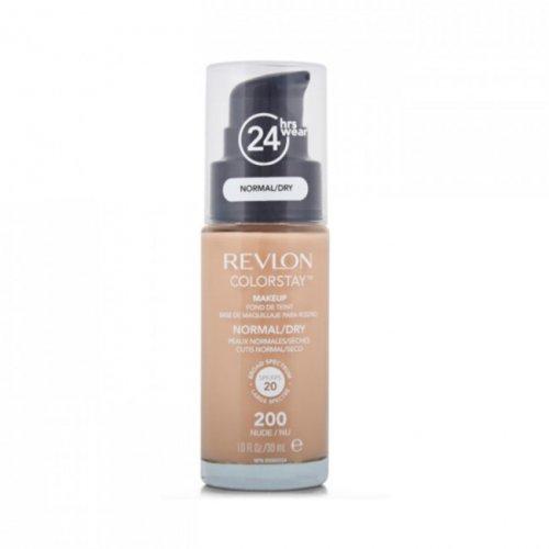 Revlon Colorstay Normal/ Dry Skin, Fond de ten cu pompita, Nuanta 200 NUDE, SPF20, 30 ml, TESTER