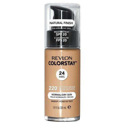 Revlon Colorstay Normal/ Dry Skin, Fond de ten cu pompita, Nuanta 220 NATURAL BEIGE, SPF 20, 30 ml , TESTER