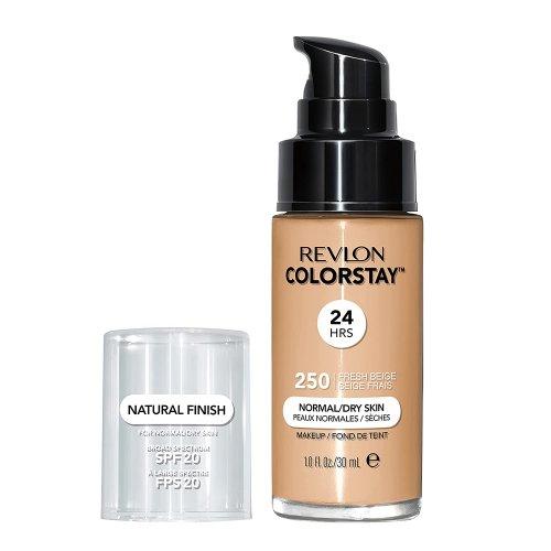 Revlon Colorstay Normal/ Dry Skin, Fond de ten cu pompita, Nuanta 250 FRESH BEIGE, SPF20, 30 ml, TESTER