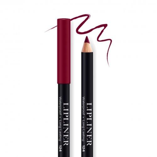 Creion contur de buze rezistent, Bel London Lip Liner Long Lasting, 124, 0.78gr