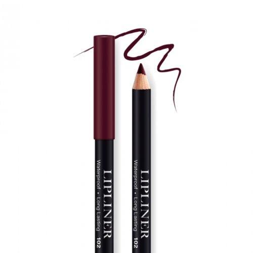 Creion contur de buze rezistent, Bel London Lip Liner Long Lasting, 102, 0.78gr
