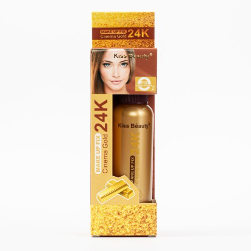 Spray fixare machiaj, 24K Gold, cu particule de colagen , 80ml