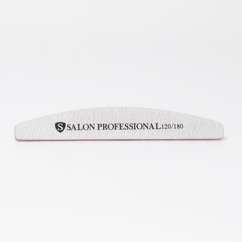 Pila unghii, profesionala, Semiluna, 120/180, Salon Professional, gri
